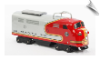 Santa Fe Scootster Railroad Engine Train