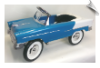 1955 Classic Pedal Car - Aqua and White