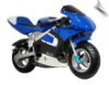 MotoTec Gas Pocket Bike Blue