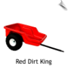 Dirt King Tricycle Cart/Trailer (RED)