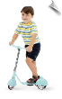 Retro Baby Blue (Aqua) Scooter (SKU: MO-31210)